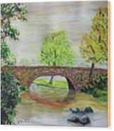 Shortcut Bridge Wood Print