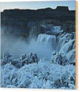 Shoshone Falls Panorama Wood Print