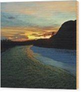 Shoshone River Sunset Wood Print