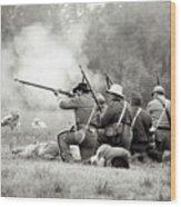 Shots Fired Civil War Wood Print