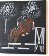 Show Jumper Wood Print