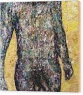 Shower Man Wood Print
