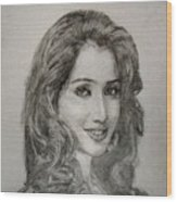 Shreya Ghoshal Wood Print