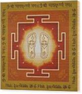 Shri Maha Lakshmi Paduka Wood Print