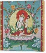 Shri Saraswati - Goddess Of Wisdom And Arts Wood Print