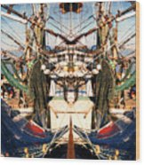 Shrimp Boat Abstract Wood Print