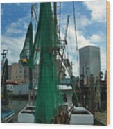 Shrimp Boat Back Wood Print
