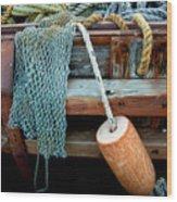 Shrimp Boat Detail Wood Print