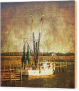 Shrimp Boat In Charleston Wood Print