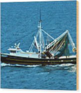 Shrimp Boat In The Gulf Wood Print