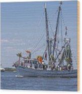 Shrimp Boat Parade Of The Shrimp Festival Wood Print