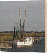 Shrimp Boat Wood Print