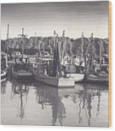 Shrimp Boats Mosquito Fleet Wood Print by Fred Jinkins