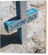 Shrimp Jack Wood Print