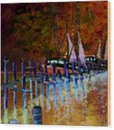 Shrimpboats Wood Print