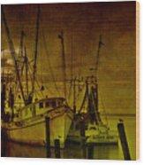 Shrimpboats In Apalachicola  Wood Print