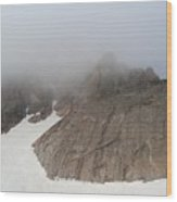 Shrouds Of Clouds Wood Print