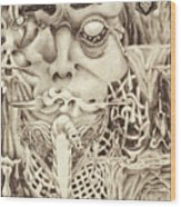 Shudders Wood Print by Sean Imler