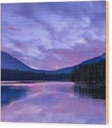 Shunda Lake At Dawn Wood Print