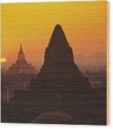 Shwesandaw Paya Temples Wood Print