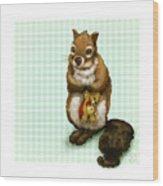 Shy Squirrel Wood Print