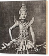 Siam: Dancer, C1870 Wood Print