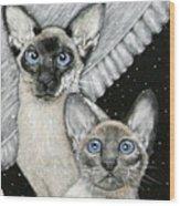 Siamese Cats Wood Print