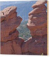 Siamese Twins And Pikes Peak Wood Print