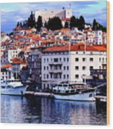Sibenik Waterfront Wood Print