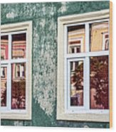 Sibiu Window Reflections - Romania Wood Print