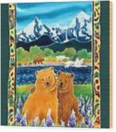Sibling Bears Of Katmai Wood Print