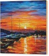 Sicily - Harbor Of Syracuse Wood Print