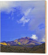Sicily Mountain Top Wood Print
