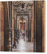 Side Aisle Of The Basilica Of The Mafra Wood Print
