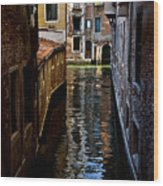 Side Canal Wood Print