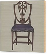 Side Chair (one Of Six) Wood Print