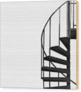 Side Entrance Wood Print by Evelina Kremsdorf