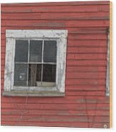 Side Of An Old Red Barn Quechee, Vermont Wood Print