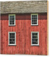 Side Of Barn And Windows At Old World Wisconsin Wood Print