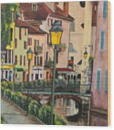 Side Streets In Annecy Wood Print