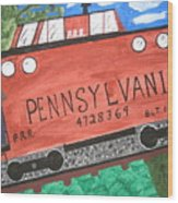 Side Tracked In Pa.  Wood Print