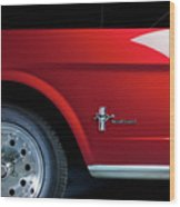 Side View Of 1964 Ford Mustang Wood Print
