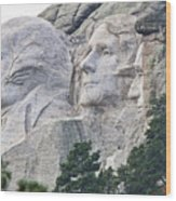 Side View Of Mount Rushmore  8696 Wood Print