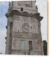 Side View Of The Arch Of Constantine Wood Print