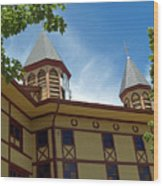 Side View Of The Great Auditorium Of Ocean Grove Nj Wood Print