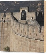 Side View Of The Great Wall Wood Print