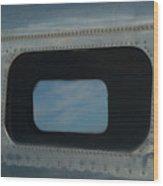 Side Window Beechcraft Model 18-signed-#8604 Wood Print