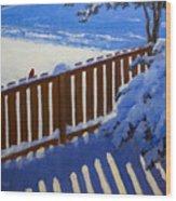 Side Yard Snow Wood Print