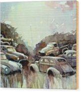 Sidehill Retirees Wood Print