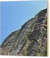 Sideling Hill Rock Wood Print